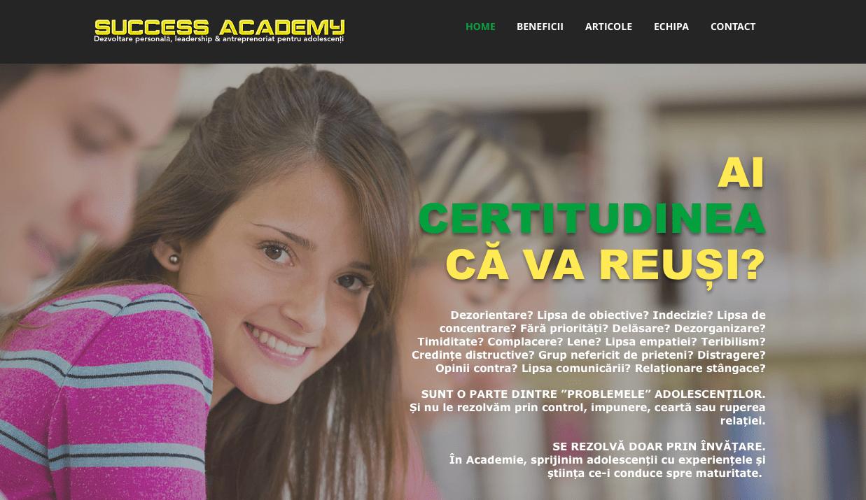 prezentare companie scoala leadership antreprenoriat dezvoltare personala adolescenti
